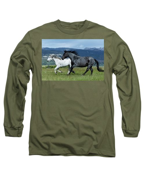 Galloping Through The Scenery Long Sleeve T-Shirt