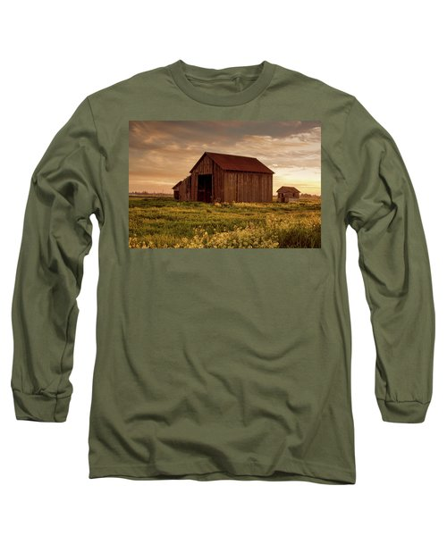 Galt Barn At Sunset Long Sleeve T-Shirt