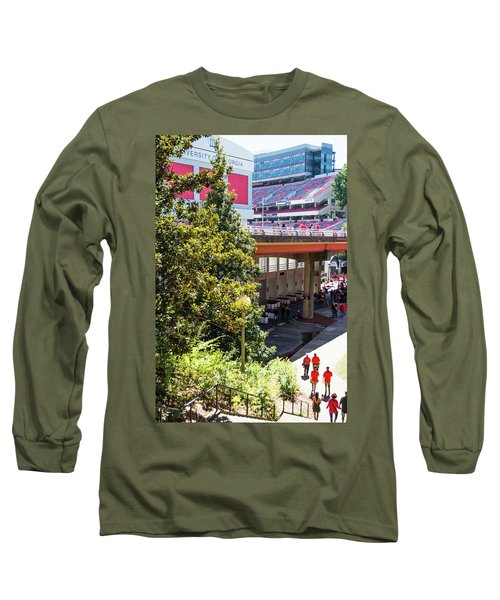 Long Sleeve T-Shirt featuring the photograph Game Day In Athens by Parker Cunningham