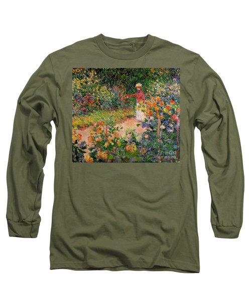 Garden At Giverny Long Sleeve T-Shirt
