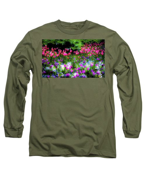 Garden Flowers With Tulips Long Sleeve T-Shirt