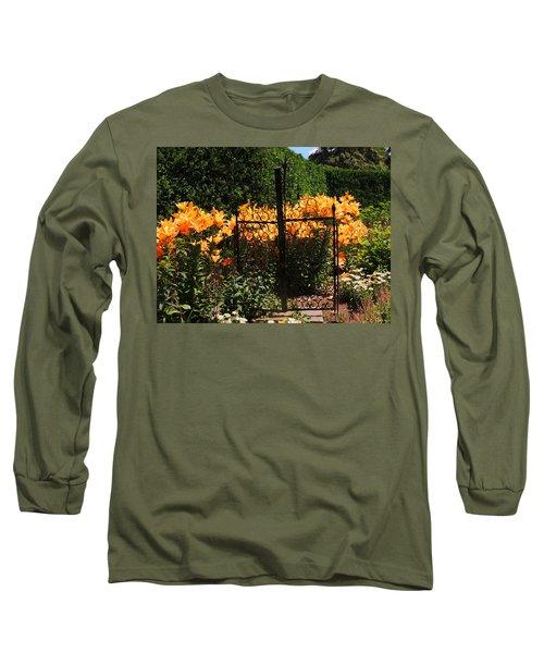 Garden Gate Long Sleeve T-Shirt by Teresa Schomig