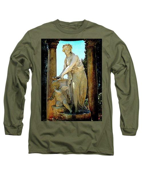 Long Sleeve T-Shirt featuring the photograph Garden Goddess by Lori Seaman