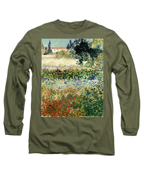 Long Sleeve T-Shirt featuring the painting Garden In Bloom by Van Gogh