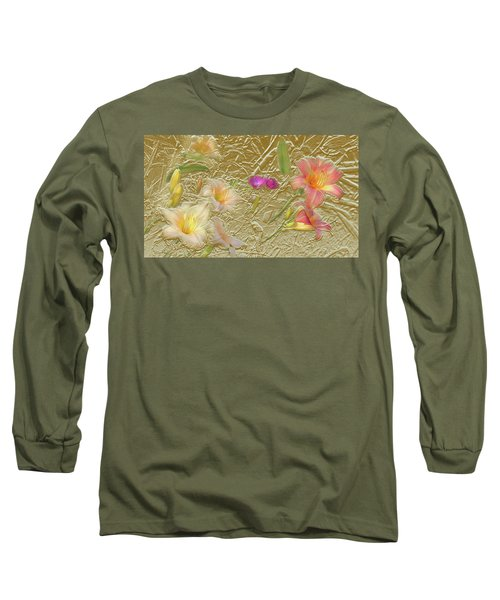 Garden In Gold Leaf2 Long Sleeve T-Shirt