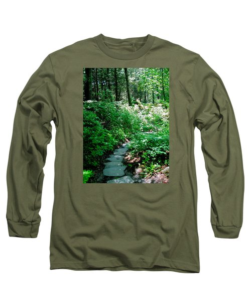 Garden In The Woods Long Sleeve T-Shirt by Deborah Dendler