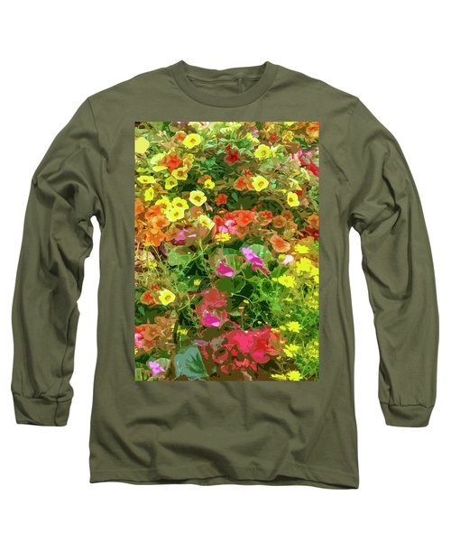 Garden Of Color Long Sleeve T-Shirt by Josy Cue