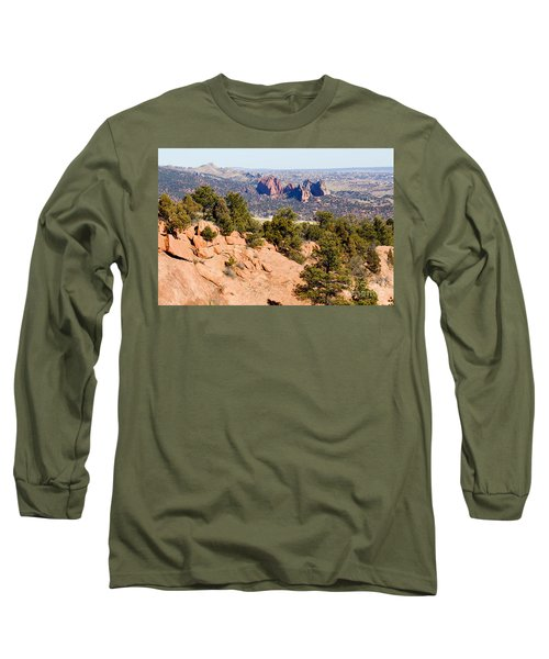 Garden Of The Gods And Springs West Side Long Sleeve T-Shirt
