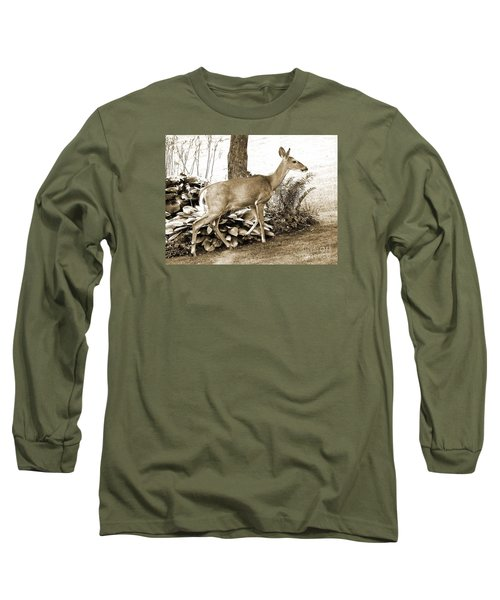 Long Sleeve T-Shirt featuring the photograph Garden Visitor by Betsy Zimmerli