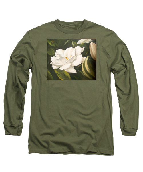 Gardenia Long Sleeve T-Shirt by Natalia Tejera