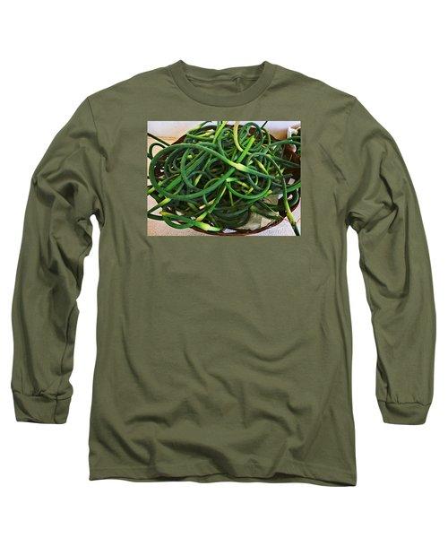 Garlic Stems Long Sleeve T-Shirt