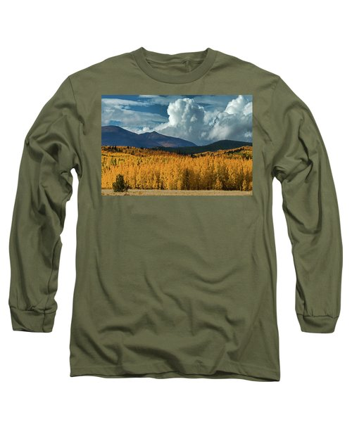 Long Sleeve T-Shirt featuring the photograph Gathering Storm - Park County Co by Dana Sohr