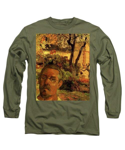 Gauguin Study In Orange Long Sleeve T-Shirt