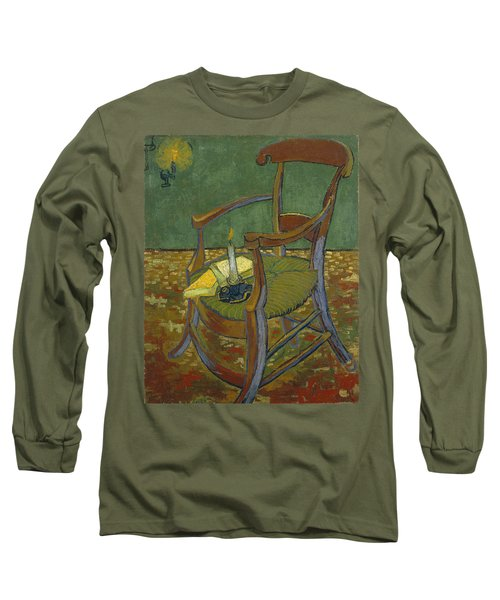 Long Sleeve T-Shirt featuring the painting Gauguin's Chair by Van Gogh