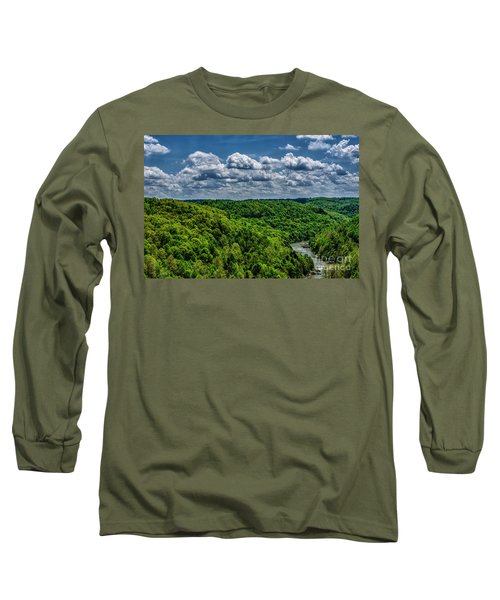 Gauley River Canyon And Clouds Long Sleeve T-Shirt