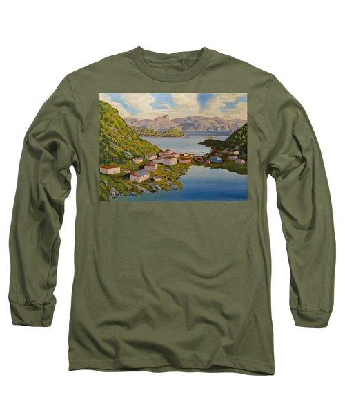 Gaultois Village Newfoundland Long Sleeve T-Shirt