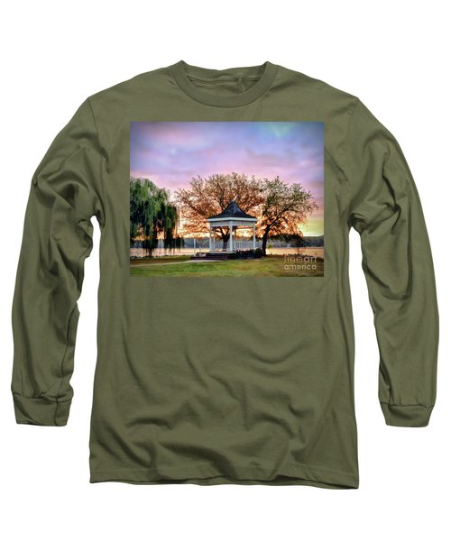 Gazebo Sunrise At Claytor Lake Long Sleeve T-Shirt