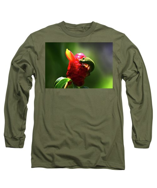 Long Sleeve T-Shirt featuring the photograph Gecko #1 by Anthony Jones