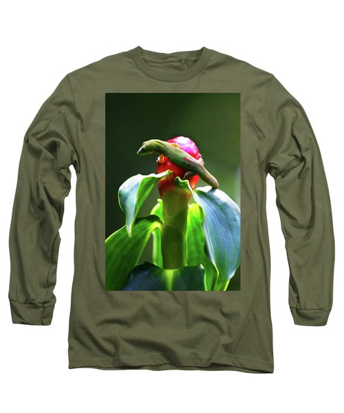 Long Sleeve T-Shirt featuring the photograph Gecko #3 by Anthony Jones