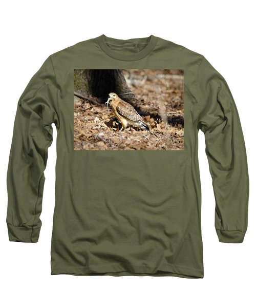 Long Sleeve T-Shirt featuring the photograph Gecko For Lunch by George Randy Bass