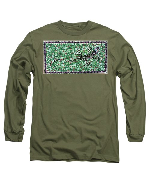 Long Sleeve T-Shirt featuring the ceramic art Gecko by Jamie Frier