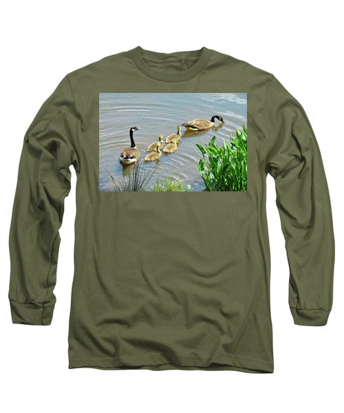 Geese And Goslings Long Sleeve T-Shirt