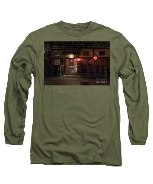 Geisha Tea House, Gion, Kyoto, Japan Long Sleeve T-Shirt