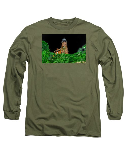 Genesee Lighthouse Long Sleeve T-Shirt by William Norton