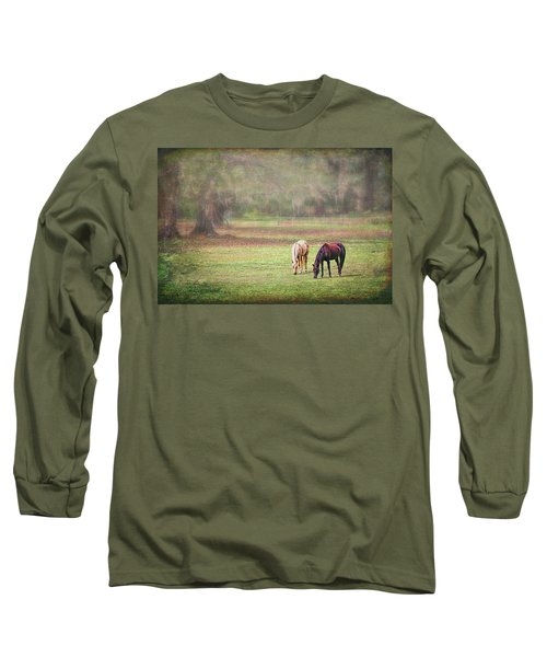 Long Sleeve T-Shirt featuring the photograph Gently Grazing by Lewis Mann