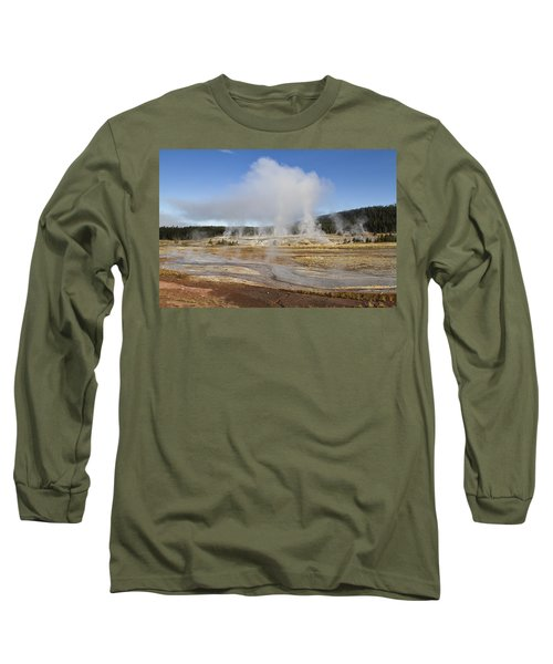 Gently Steaming Long Sleeve T-Shirt by Shirley Mitchell