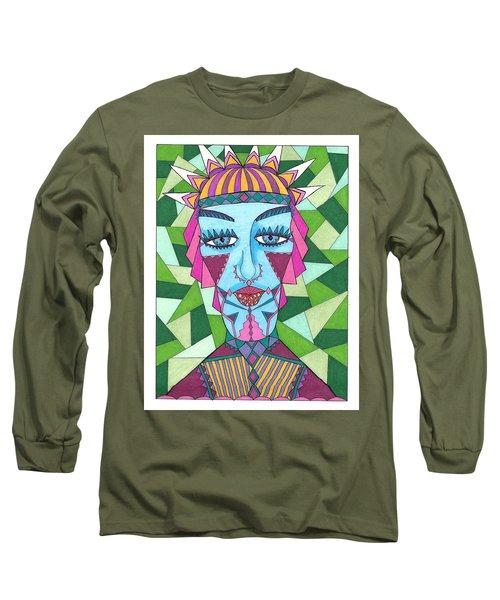 Geometric King Long Sleeve T-Shirt