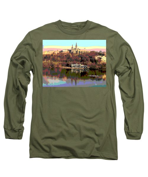 Georgetown University Crew Team Long Sleeve T-Shirt by Charles Shoup