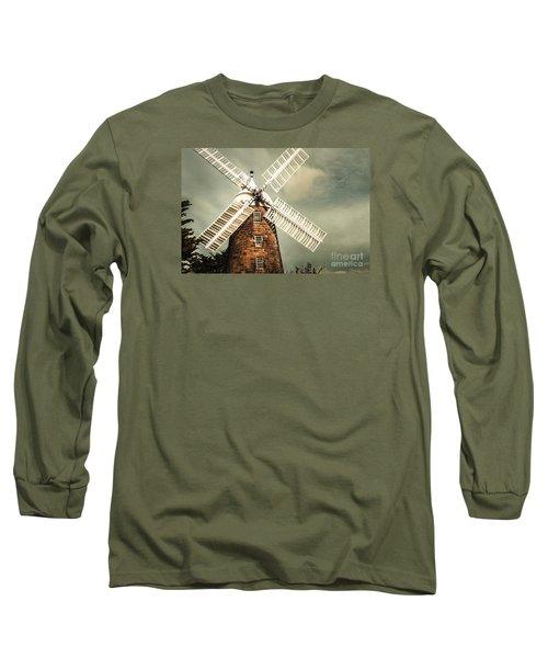 Long Sleeve T-Shirt featuring the photograph Georgian Stone Windmill  by Jorgo Photography - Wall Art Gallery