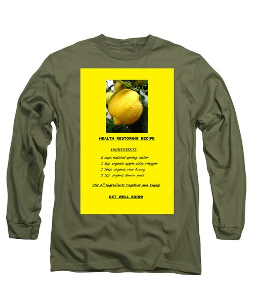 Get Well Soon Long Sleeve T-Shirt by Mary Ellen Frazee