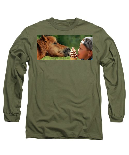 Pals - Getting Their Licks In Long Sleeve T-Shirt by I'ina Van Lawick
