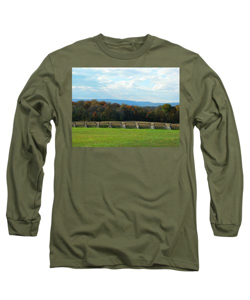 Long Sleeve T-Shirt featuring the photograph Gettysburg Battlefield And Beyond by Emmy Marie Vickers