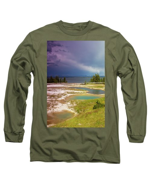 Long Sleeve T-Shirt featuring the photograph Geysers Pools by Dawn Romine