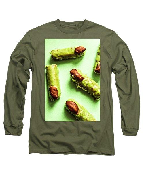 Ghastly Green Halloween Finger Food Long Sleeve T-Shirt
