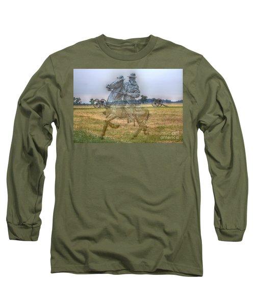 Long Sleeve T-Shirt featuring the digital art Ghost Of Gettysburg by Randy Steele