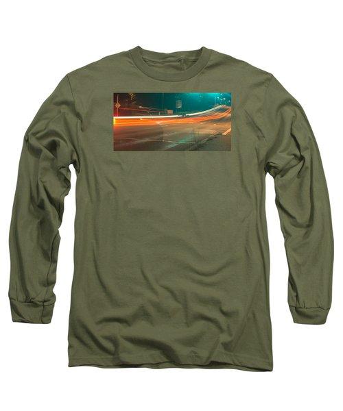 Ghostly Cars Long Sleeve T-Shirt by John Rossman