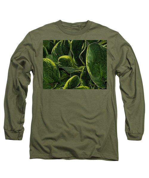 Giant Hosta Closeup Long Sleeve T-Shirt