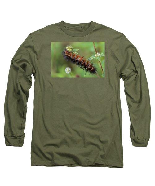 Giant Leopard Moth Caterpillar Long Sleeve T-Shirt
