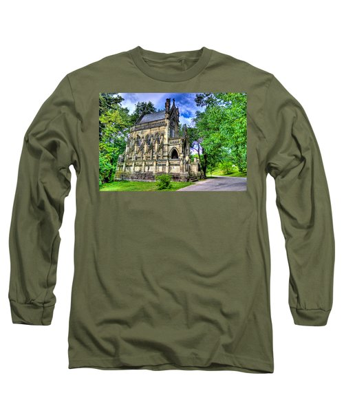 Giant Spring Grove Mausoleum Long Sleeve T-Shirt by Jonny D