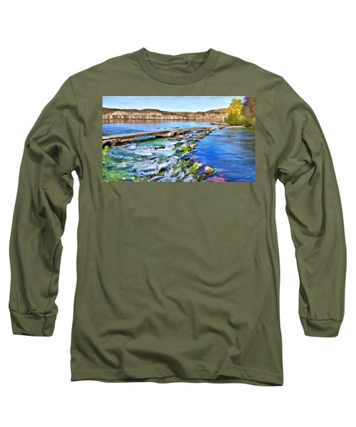 Giant Springs 3 Long Sleeve T-Shirt by Susan Kinney