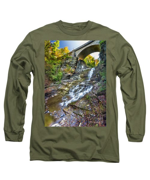Giant's Staircase Under College Avenue Bridge Long Sleeve T-Shirt
