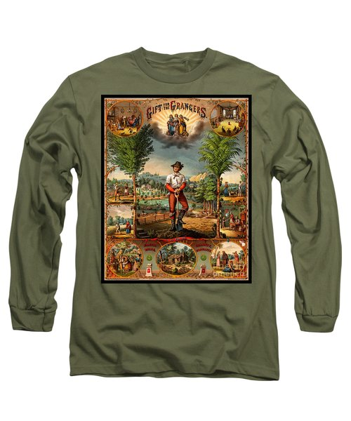 Gift For The Grangers 1873 Victoiran National Grange Agriculture Promotional Art Long Sleeve T-Shirt