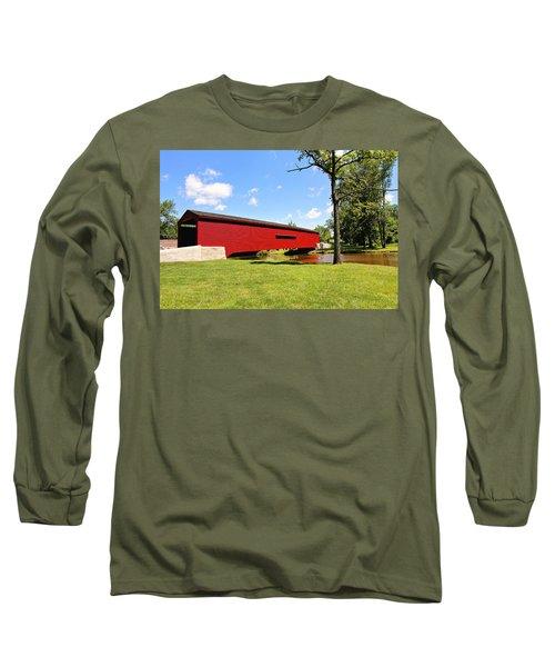 Gilpin's Falls Covered Bridge Long Sleeve T-Shirt