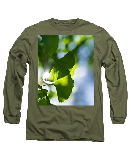 Gingko Leaves In The Sun Long Sleeve T-Shirt