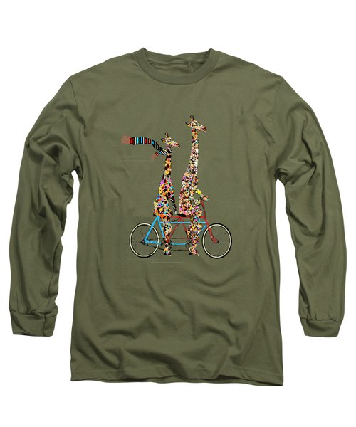 Giraffe Days Lets Tandem Long Sleeve T-Shirt