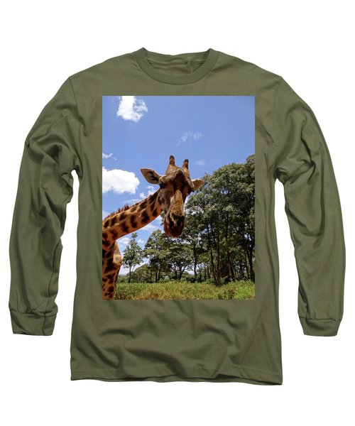 Giraffe Getting Personal 4 Long Sleeve T-Shirt